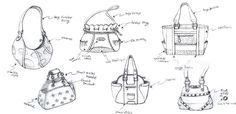 Handbag quick idea sketches    Haejong Gwon  http://www.hjgwon.com  tonygwon@gmail.com