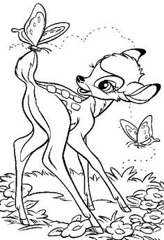 Bambi 17 coloring page. Do you like BAMBI coloring pages? You can print out this Bambi 17 coloring pagev or color it online with our coloring machine. Horse Coloring Pages, Cute Coloring Pages, Cartoon Coloring Pages, Disney Coloring Pages, Coloring Books, Bambi Disney, Disney Art, Disney Movies, Colorful Drawings