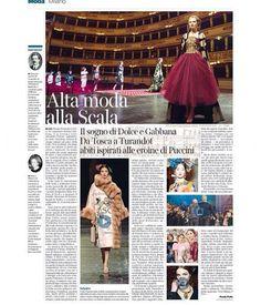 #StefanoGabbana Stefano Gabbana: @corrieredellasera ❤️❤️❤️❤️❤️ Alta Moda Milano  Teatro alla Scala #madeinitaly