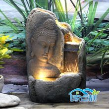 small indoor water features wonderfull design ideas with buddha with candle tabletop water. Black Bedroom Furniture Sets. Home Design Ideas