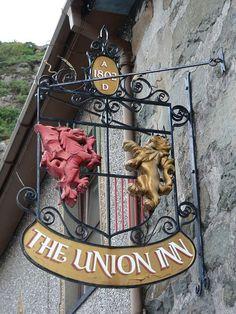 The Union, (England,Scotland & Wales) Pub Signs, Shop Signs, British Pub, Pub Crawl, Pub Bar, England And Scotland, Old World Charm, Store Fronts, Coffee Shop