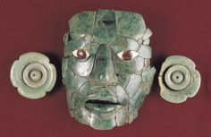 Jade mask from Calakmul