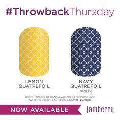 Loving this weeks #TBT designs! They feature a trendy pattern that is popular in the interior design and fashion worlds. Isn't this yellow color beautiful?! Love them both! Check out all the details here: https://kelluvsjams.jamberry.com/us/en/shop/shop/for/nail-wraps?collection=collection%3A%2F%2F1114