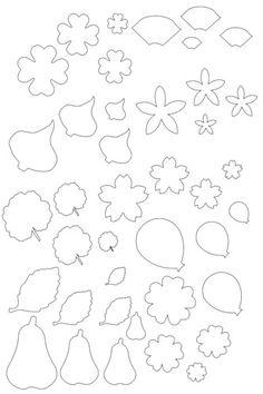 Vorlagen für die Herstellung von Blumen aus Papier - Astoria - ya.ru