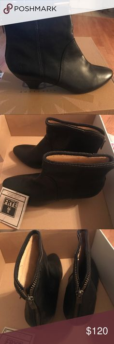 FRYE Steffi Zip Short boots Black FRYE boots! New in box. Frye Shoes Ankle Boots & Booties