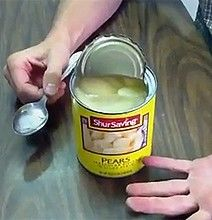 I totally had to do this tonight since I killed my can opener...how to open a can with a spoon.