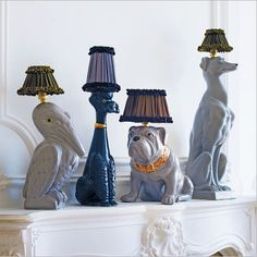 Animal lamps by Abigail Ahern @ Graham and Green (From £245)