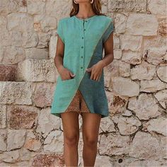 Women Summer Cotton Linen Jumpsuit Ladies Holiday Short Sleeve Casual Loose Playsuit Summer Beach Pocket Shorts Romper Trousers, Gray / S Short Playsuit, Short Jumpsuit, Playsuit Romper, Casual Jumpsuit, Jumpsuit With Sleeves, Dress Casual, Summer Dresses For Women, Jumpsuits For Women, Long Jumpsuits