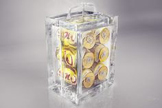 """F/Nazca Saatchi  Saatchi have created the """"ice pack"""". A six pack made entirely of ice for Skol beer ."""