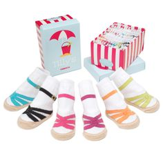 TILLY'S SANDAL SOCKS - SET OF SIX | Baby Apparel, Infant Shoes, Baby Summer Clothes | UncommonGoods