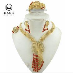 Eritrea Dubai indian gold jewelry Set Ethiopian gold plated Nigerian wedding african beads jewelry set women parure bijoux //Price: $46.49 & FREE Shipping // #jewelry #jewels #jewel