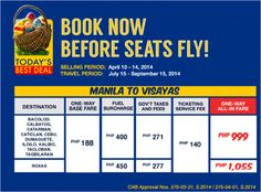 PalExpress Promo Deals Manila-Visayas for as Low as P999 All-In