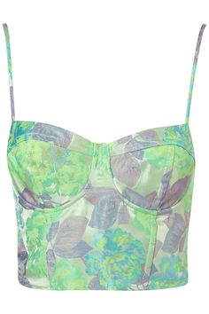 neon floral jacquard corset