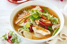 Nothing warms the soul better than a homemade chicken and noodle broth, infused with fresh Asian flavours.
