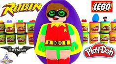Huevo Sorpresa Gigante de Lego Robin de Lego Batman de Plastilina Play D...