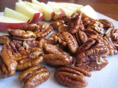 honey roasted pecans (No sugar, just honey)