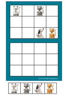 Laminate and cut out the tiles. You can add hook and loop tape. Let the student copy the way the pictures are placed in the upper frame. By Autismespektrum Hook And Loop Tape, Tracing Worksheets, Green Books, Homeschool Math, Business For Kids, Riddles, Perception, Toddler Activities, Literacy