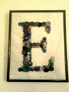 hand sewn button letters :)