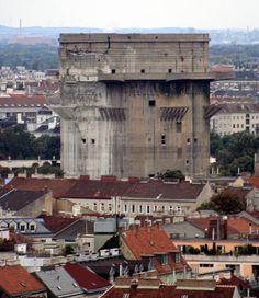 WWII Flak tower, Vienna.