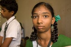 Schoolgirl in Salem, Tamil Nadu, India