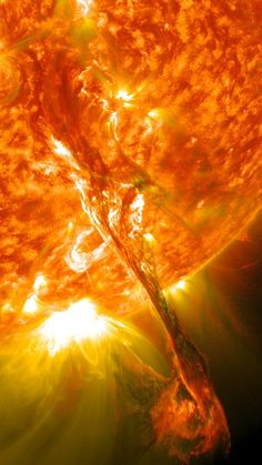 On August 31, 2012 the Sun threw a major tantrum. It started with a vast arc of material towering over its surface, a stream of plasma flowing between two sunspots. Sometimes these collapse back down to the Suns surface, but this one exploded, blasting hundreds of millions of tons of material out into space. SDO captured this ridiculously awesome picture of the arc just before it erupted!