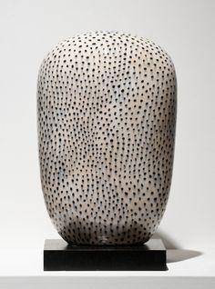 From Bentley Gallery, Jun Kaneko, Small Polka Dot Dango Glazed ceramic, 21 × 13 × 9 in Japanese Ceramics, Japanese Pottery, Abstract Sculpture, Sculpture Art, Ceramic Sculptures, Keramik Vase, Morse Code, Contemporary Ceramics, Modern Ceramics