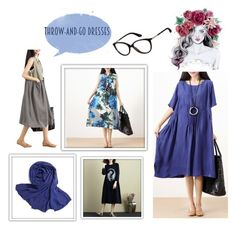 """""""Throw-And- Go-Dresses"""" by buykud ❤ liked on Polyvore"""