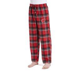 Ncaa Wisconsin Badgers Groundbreaker Big Men's Flannel Pant, 2XL, Red
