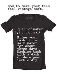 Making tshirts vintage soft