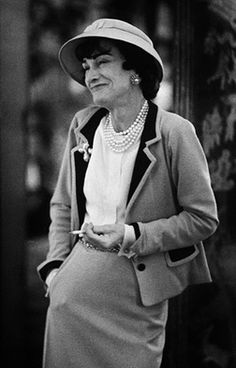 Coco Chanel, photographed for LIFE Magazine, 1957