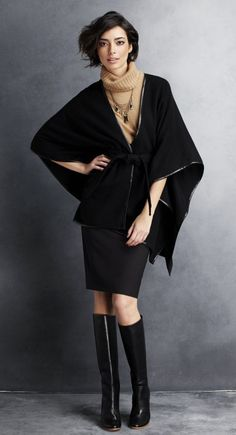 "Ann Taylor - Poncho - They are calling it a ""Pullover"" on the website.  I'm thinking I might need to get one this winter.  Really cute."