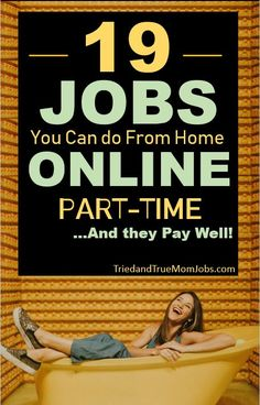 Are you looking for a job online that can be done part-time? Perfect, because we've compiled a list of the best part-time jobs online that people are doing today, and they pay well! In this article we will show you the following: Best Part-time Jobs Online, How Much You Can Earn, How to Get Started. There is a success story behind most of these part-time online jobs, so you can rest assured it works. Take a look and find a new way to make money today. #earnmoneyonline #partimejobs #workfromhome Legitimate Online Jobs, Best Online Jobs, Online Jobs From Home, Work From Home Jobs, Online Work, Best Jobs, Make Money Today, Money Saving Mom, Earn Money From Home