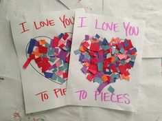 Valentines Day Craft Ideas- I love you to pieces