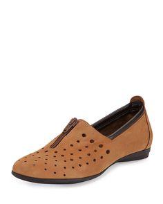 Sesto Meucci Amberly Perforated Slip-On Flat, Viso Natural
