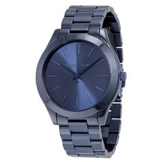 f8b6e6f0f3b Michael Kors Women s MK3419  Slim Runway  Blue Stainless Steel Watch  (Michael Kors Women s MK3419 Stainless steel) - Size  One Size Fits All