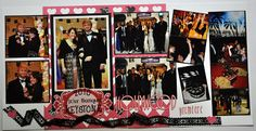 black white and red scrapbook layouts - Google Search