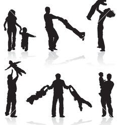 People silhouettes vector 9064 - by TAlex on VectorStock�