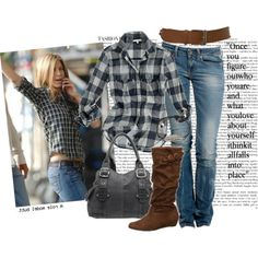 country girl style | Country Girl Jen by Britt featuring slouchy boots