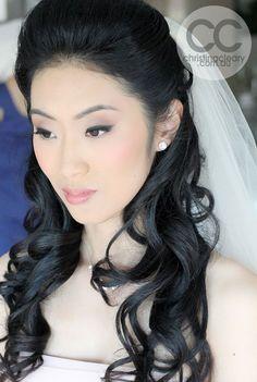 Asian Eye Makeup, Dark Asian Eyes, Asian Bride, Black Eyeshadow, Grey Eyeshadow, Perfect eyeliner, Perfect Skin, Asian, Chinese Bridal Makeup, Chinese Bride, Hair, Makeup, Bridal, Wedding | MAKEUP + PHOTOGRAPHY CHRISTINA CLEARY www.christinacleary.com.au