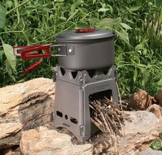 TOMSHOO Camping Wood Stove Portable Folding Lightweight Titanium Wood Burning Backpacking Stove for Outdoor Survival Cooking Picnic Hunting Tent Camping, Camping Gear, Outdoor Camping, Outdoor Gear, Diy Camping, Backpacking Gear, Camping Equipment, Glamping, Camping Wood Stove