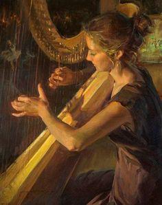 Beautiful Women Paintings By Daniel F. Gerhartz photo