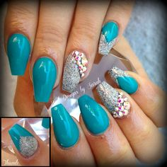 tiffany blue coffin nails
