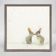 null These sweet 'Baby Bunnies' Framed Print on Canvas couldn't be any cuter! Add a soft touch to any room with this canvas art.