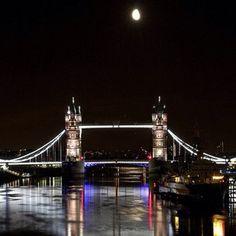 Moon over Tower Bridge - @purplemonkee- #webstagram