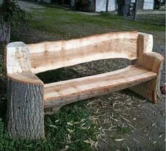 Make yourself wooden garden furniture and build yourself a garden bench - wood table DIY - Make yourself wooden garden furniture and build a garden bench yourself, build - Bench Furniture, Rustic Furniture, Garden Furniture, Corner Furniture, Tree Furniture, Furniture Outlet, Furniture Stores, Discount Furniture, Furniture Ideas