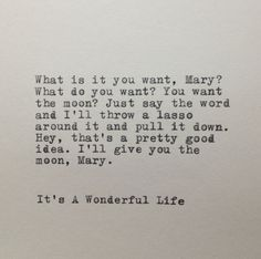 It's A Wonderful Life Quote Typed on Typewriter by farmnflea, $9.00