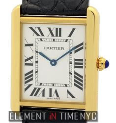 Cartier Tank Solo 27mm iN 18k Yellow Gold With A Silver Roman Dial (W5200004)