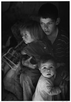 Trailer Camp Children, Richmond, California  Ansel Easton Adams