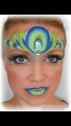 Cameron's Peacock inspired forehead crown