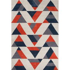 This beautifully made area rug has a geometric design which will compliment the style of your room. It is a high quality handmade area rug made of Polyester. It is durable, easy to care for and has a ...